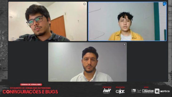Confira a transmissão da Semana de Jornalismo da Ufam pela TV Cenarium (Reprodução/ YouTube)