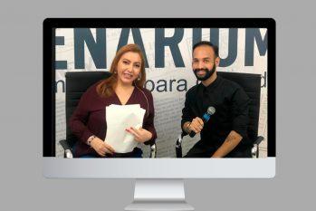A jornalista Paula Litaiff e Elias Mariano (Gustavo Gilona/CENARIUM)