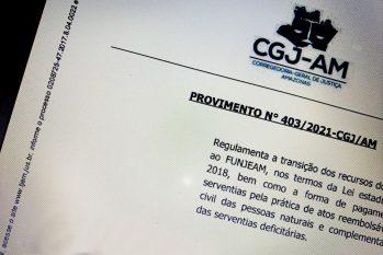 Provimento 403/2021 está temporariamente suspenso, até ulterior deliberação da Corregedoria-geral de Justiça do Amazonas (Acervo CGJ/AM)