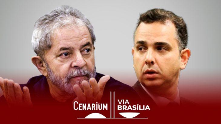 O ex-presidente Lula e o presidente do Senado, Rodrigo Pacheco (Arte: Ygor Fabio Barbosa)