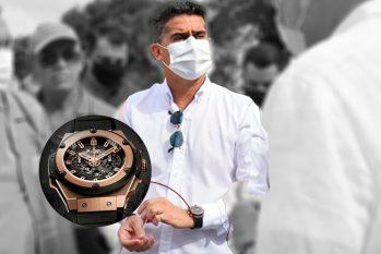 O prefeito de Manaus, David Almeida (Avante), exibe um relógio da marca Hublot (Reprodução/Instagram)