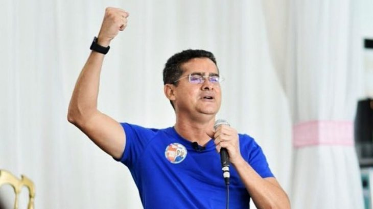 The mayor of Manaus, David Almeida (Avante), during the campaign for City Hall (Reproduction/Facebook)
