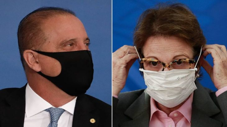 Os ministros Onyx Lorenzoni e Tereza Cristina: planos de deixar o novo partido União Brasil  (Pablo Jacob/Agência O Globo)