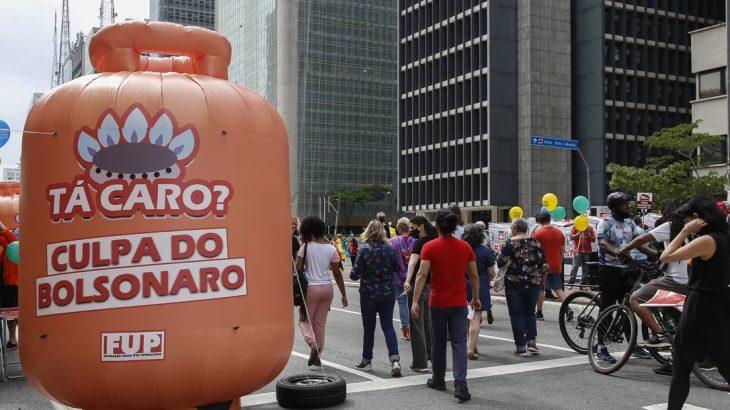 A inflação e o preço dos alimentos e combustíveis marcaram os atos de 2 de outubro (Edilson Dantas / Agência O Globo)