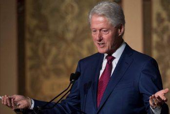 Ex-presidente dos Estados Unidos Bill Clinton fala durante evento de comemoração do 25º aniversário de sua eleição presidencial, na Universidade de Georgetown em Washington, DC Foto: SAUL LOEB / AFP/06-11-2017