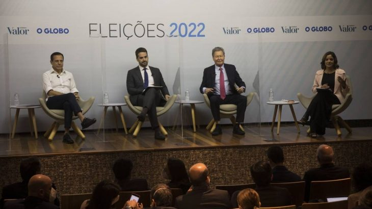 Debate com os pré-candidatos à Presidência pelo PSDB com a presença de João Doria, Eduardo Leite e Arthur Virgílio (Guito Moreto/Agência O Globo)