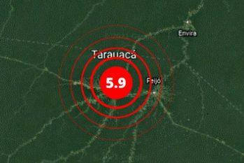 Tremor foi registrado no Acre  (Reprodução/Rede Sismográfica Brasileira)