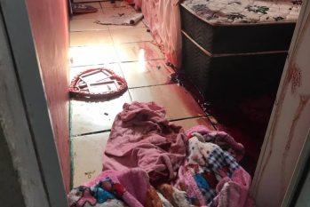 Quarto de uma das casas onde homicídios foram registrados no Jacarezinho, em 6 de maio Foto: Rio de Paz/ Divulgação